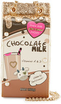 Betsey Johnson Kitsch Chocolate Milk Crossbody Bag