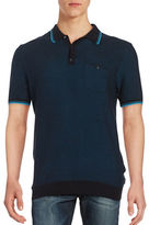 Ben Sherman Textured Cotton Polo Shirt