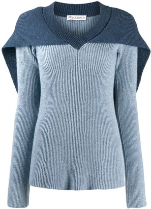 J.W.Anderson Cape Knitted Jumper