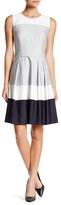 HUGO BOSS Hinawa Colorblock Fit & Flare Dress