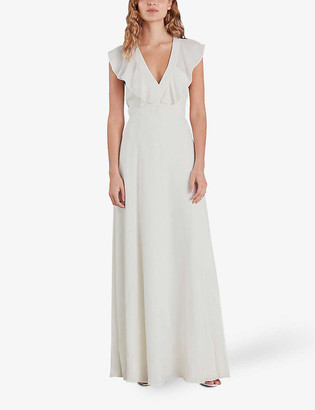 Whistles Eve ruffled silk wedding dress