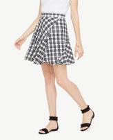 Ann Taylor Tall Plaid Flounce Skirt