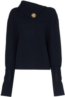 J.W.Anderson Foldover-Neck Ribbed Sweater