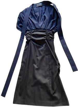 Jacquemus L'Amour d'un Gitan Navy Wool Dresses