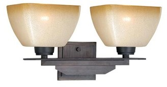 Millwood Pines Aanya 2-Light Dimmable Architectural Bronze Vanity Light