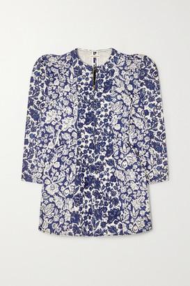 Ulla Johnson Wren Floral-print Denim Mini Dress - Blue