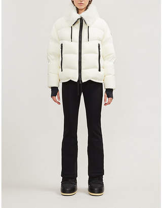 Moncler Plaret faux-fur and shell jacket