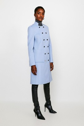 Karen Millen Italian Wool Rich Military Coat