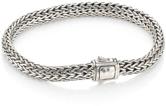 John Hardy Classic Chain Hammered Station Sterling Silver Small Bracelet