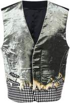 Haider Ackermann creased effect waistcoat