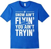 Lego Men's Snowmobile If Snow Aint Flyin You Aint Tryin T-Shirt Medium
