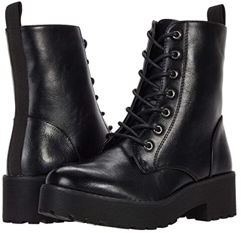 Chinese Laundry Mazzy (Black Smooth) Women's Lace-up Boots