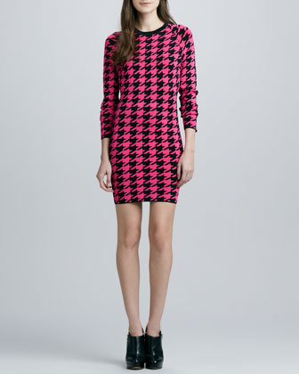 Torn By Ronny Kobo Michaela Neon Houndstooth Dress (Stylist Pick!)