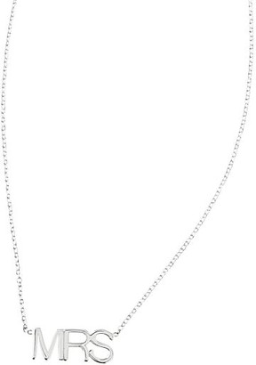"Mark And Graham Maya Brenner Pendant Necklace, ""Mrs"""