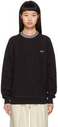 Noah NYC Black Houndstooth Collar Crewneck Sweatshirt