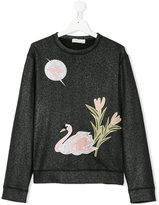 Stella McCartney teen Swan embroidered sweatshirt - kids - Cotton - 14 yrs