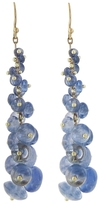 Ten Thousand Things Long Tapered Sapphire Earrings