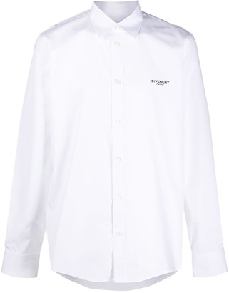 Givenchy Peony-embroidered slim-fit shirt