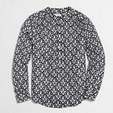J.Crew Factory Petite printed henley blouse