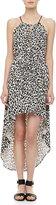 Milly Cheetah-Print Hi-Lo Dress