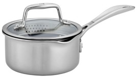 Zwilling J.A. Henckels Zwilling Clad Cfx 1-Qt. Saucepan with Strainer Lid and Pouring Spouts