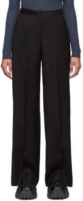 Études Black Wool Transition Trousers