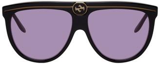 Gucci Black and Purple GG0732S Sunglasses