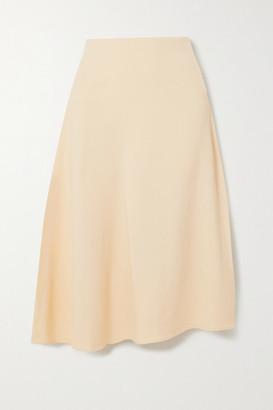 Vince Asymmetric Twill Midi Skirt
