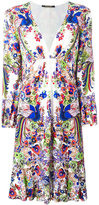 Roberto Cavalli floral print V-neck dress - women - Viscose - 44