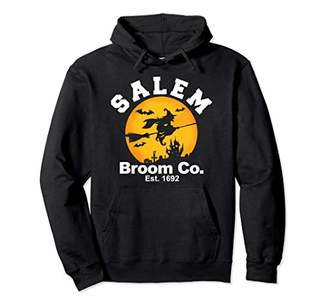 b-ROOM Salem Broom Company Est 1692 funny Haloween Witch Pullover Hoodie