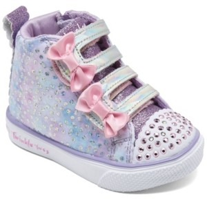Skechers Toddler Girl's Twinkle Toes Unicorn Bliss High Top Light-Up Stay-Put Closure Casual Sneakers from Finish Line