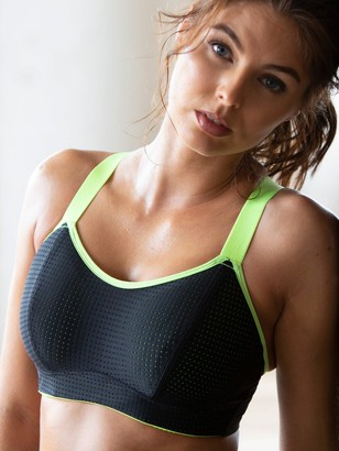 Pour Moi? Energy Underwired Lightly Padded Sports Bra - Black Lime