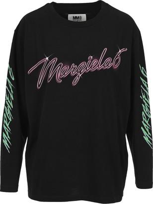 MM6 MAISON MARGIELA Mm6 Logo Print Long Sleeves T-shirt