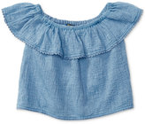 Ralph Lauren Off-The-Shoulder Cotton Top, Toddler & Little Girls (2T-6X)