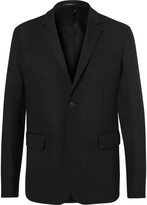 Givenchy Black Slim-Fit Taped Stretch-Wool Blazer