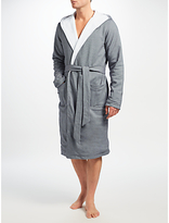 Hamilton And Hare Cotton Towelling Boxing Robe, Grey