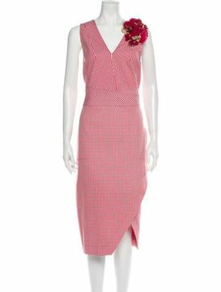Altuzarra Plaid Print Knee-Length Dress Red