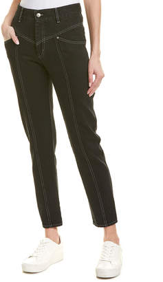 Isabel Marant Etoile Lorricka High-Waist Contrast-Stitched Jeans