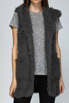 Listicle Hooded Shaggy Vest
