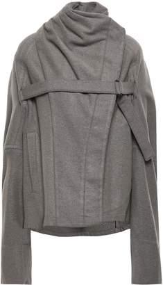 Ann Demeulemeester Buckled Wool-blend Felt Coat
