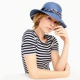 J.Crew Blue straw hat with bandana