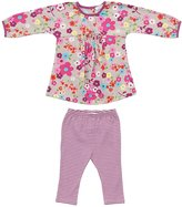 Angel Dear Cassidy Dress with Leggings - Pink Floral - 12-18 Months