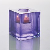 The Well Appointed House Global Views Block T-Lite Candle Holder in Aubergine
