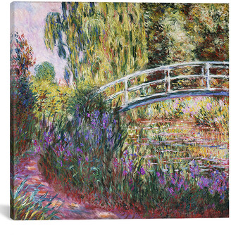 iCanvas The Japanese Bridge, Pond With Water Lilies, Canvas Wall Art