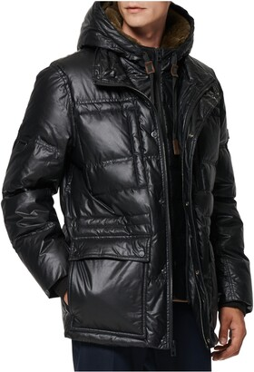 Andrew Marc Kincaid Quilted Down Coat with Faux Fur Trim