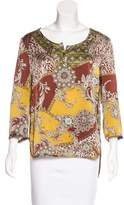 Alberto Makali Printed Long Sleeve Top