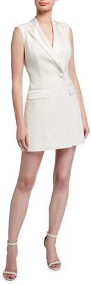 Jay Godfrey Angel Sleeveless Stretch Crepe Mini Dress