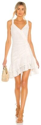 BCBGMAXAZRIA Ruffle Hem Mini Dress