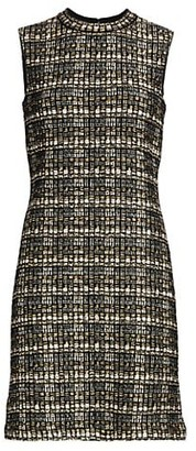 St. John Metallic Boucle Tweed Knit Sheath Dress
