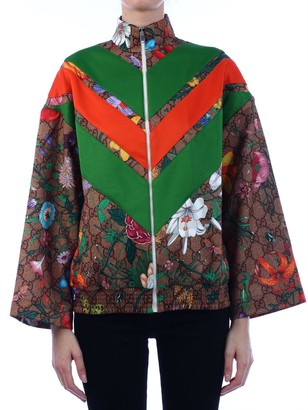 Gucci GG Flora Print Zipped Jacket
